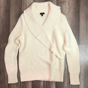 Talbots heavy ruffle sweater